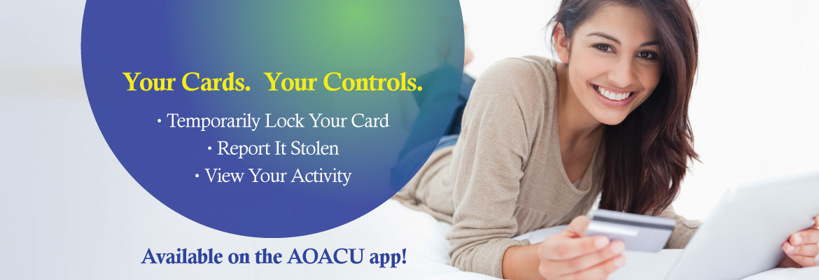 Card Controls- temporarily block, report stolen, view activity